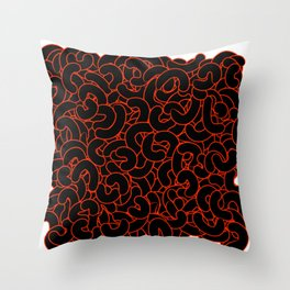 Abstract Black Nuts Throw Pillow