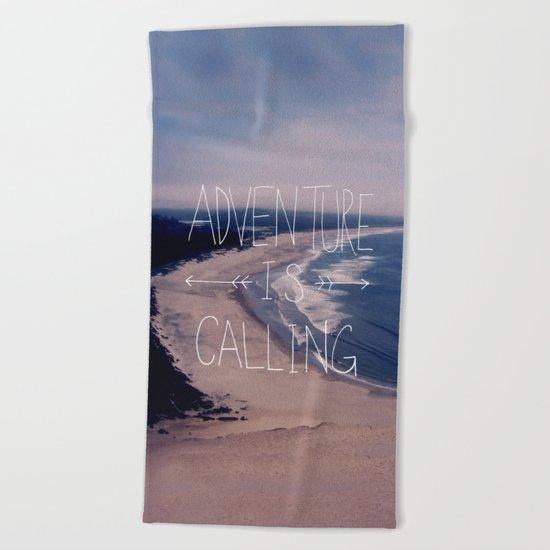 Adventure is Calling Beach Towel