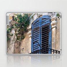 Blue Sicilian Door on the Balcony Laptop & iPad Skin