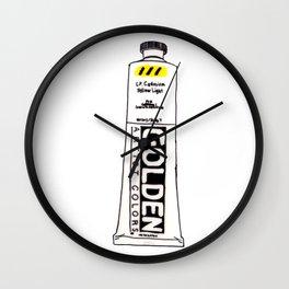 Cadmium Yellow Light Paint tube Wall Clock