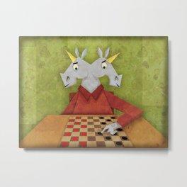 Two Headed Unicorn Metal Print