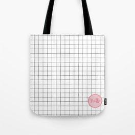Drawn Grid with Badge Tote Bag