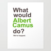 camus Art Prints featuring Camus by silentstead
