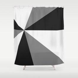 Retro Pop Art Beams - Black White Grey Shower Curtain