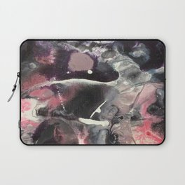 Pink and Black Original Abstract Painting by JodiLynpaintings. Splatter Abstract Pink Black Laptop Sleeve