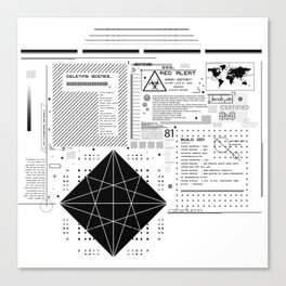 Global System Canvas Print