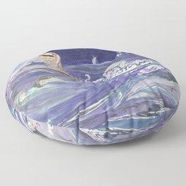Pamela Colman Smith - Sea Creatures 1907 Floor Pillow