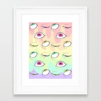 neon Framed Art Prints featuring Neon by Pastel Starbombs
