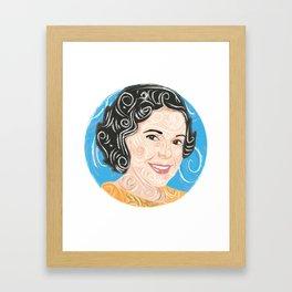 Aunt smiling / Framed Art Print