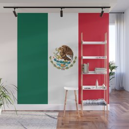 Flag of Mexico - Authentic Scale and Color (HD image) Wall Mural