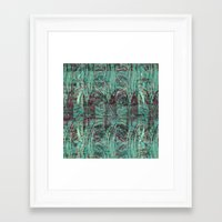 malachite Framed Art Prints featuring Malachite by M. Noelle Studios