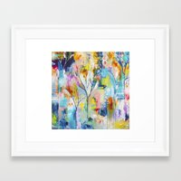 flora bowley Framed Art Prints featuring Prussian Trees Original Painting by Flora Bowley by Flora Bowley