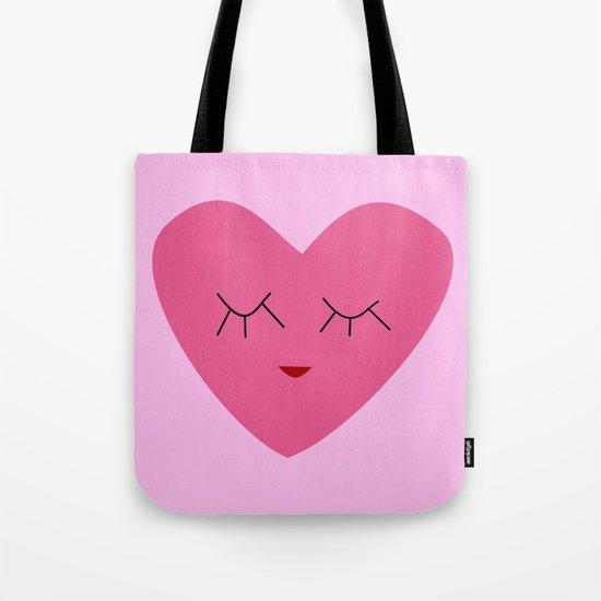 valentines heart pink Tote Bag