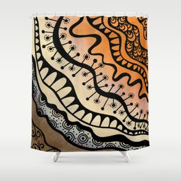From copper to bronze tangled Shower Curtain