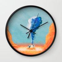 breaking bad Wall Clocks featuring Breaking Bad. by Caleb Boyles