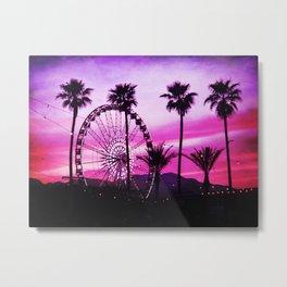 Festival Sunset - Indio, California Metal Print
