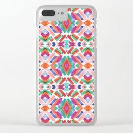 Watercolor Boho Dash 3 Clear iPhone Case