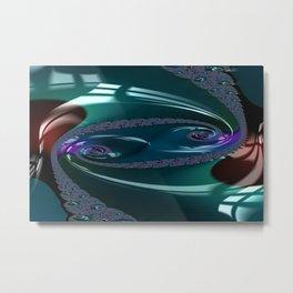 Enamored Selenium Fractal 7 Metal Print