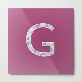 Letter G - 36 Days of Type Metal Print