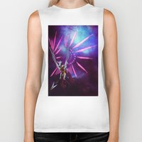 hologram Biker Tanks featuring CYBORG - VALKYRIE by SOMNIVAGRIOUS