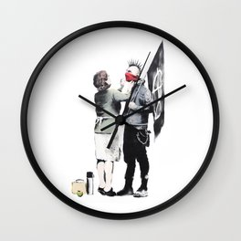 Banksy, Punk with mother Wall Clock