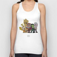 starlord Tank Tops featuring Guarding the Galaxy by Nate Kelly