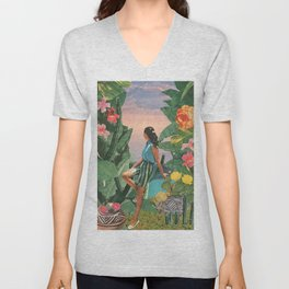 Botanical Cove Unisex V-Neck
