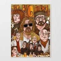 big lebowski Canvas Prints featuring The Big Lebowski by David Amblard