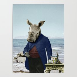 Mr. Rhino's Day at the Beach Poster