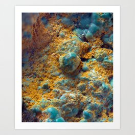 Bubbly Turquoise with Rusty Dust Art Print