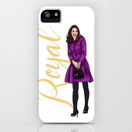 Kate in Magenta by Silvana Arias iPhone Case