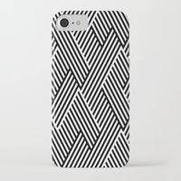 iPhone Cases featuring Black and White by Dizzy Moments