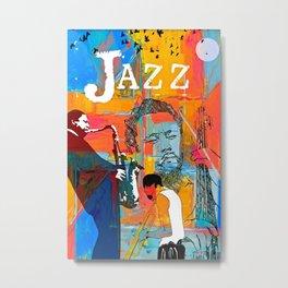 Jazz Greats Poster - Miles Mingus Coltran-e. Metal Print