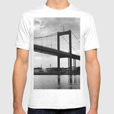 River Castle Bridge Mens Fitted Tee MEDIUM White