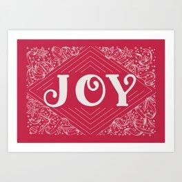 JOY / RED Art Print