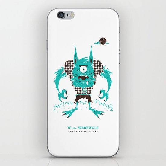 W is for Werewolf iPhone & iPod Skin