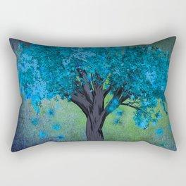 TREE OF BLUE Rectangular Pillow