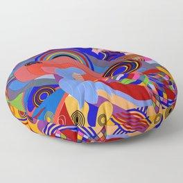 geometrical work of art of mermaid Floor Pillow