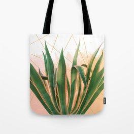 Cactus with geometric Tote Bag