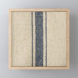 Vintage French Farmhouse Grain Sack Framed Mini Art Print