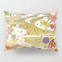 Japanese Style Floral Pattern Pillow Sham