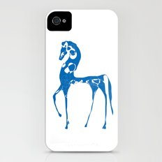blue horse iPhone (4, 4s) Slim Case