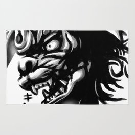 Waterbrushed Shisa Rug