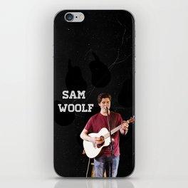 Sam Woolf - Black, Wolf Print iPhone Skin