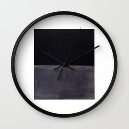Untitled (Black on Grey) by Mark Rothko Wall Clock