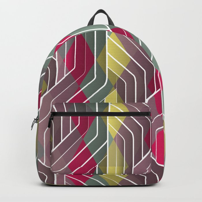 Decorative Pattern Triangles Backpack