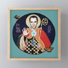 Saint Nicolas of Cage Framed Mini Art Print
