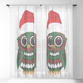 Christmas Owl Sheer Curtain