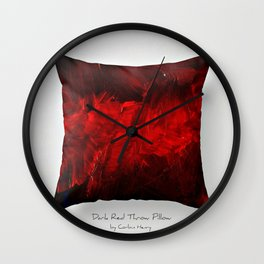 Dark Red Throw Pillow Art Print 3.0 #postmodernism #society6 #art Wall Clock