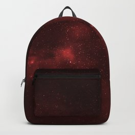 Fascinating view of the red cosmic sky Backpack